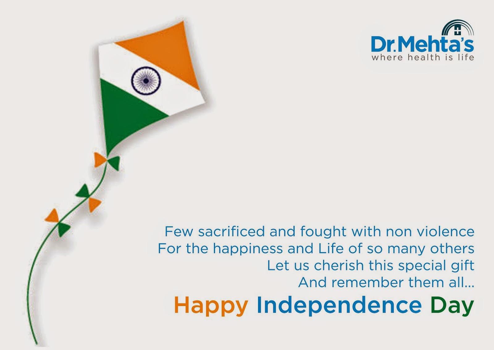 Happy  Independence  Day-Dr.Mehta's Hospital